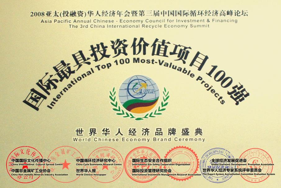 投资价值项目100强企业